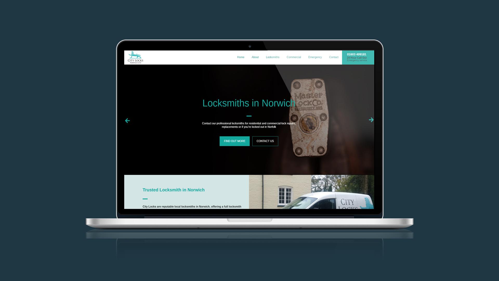 city-locks-single-page-web-design