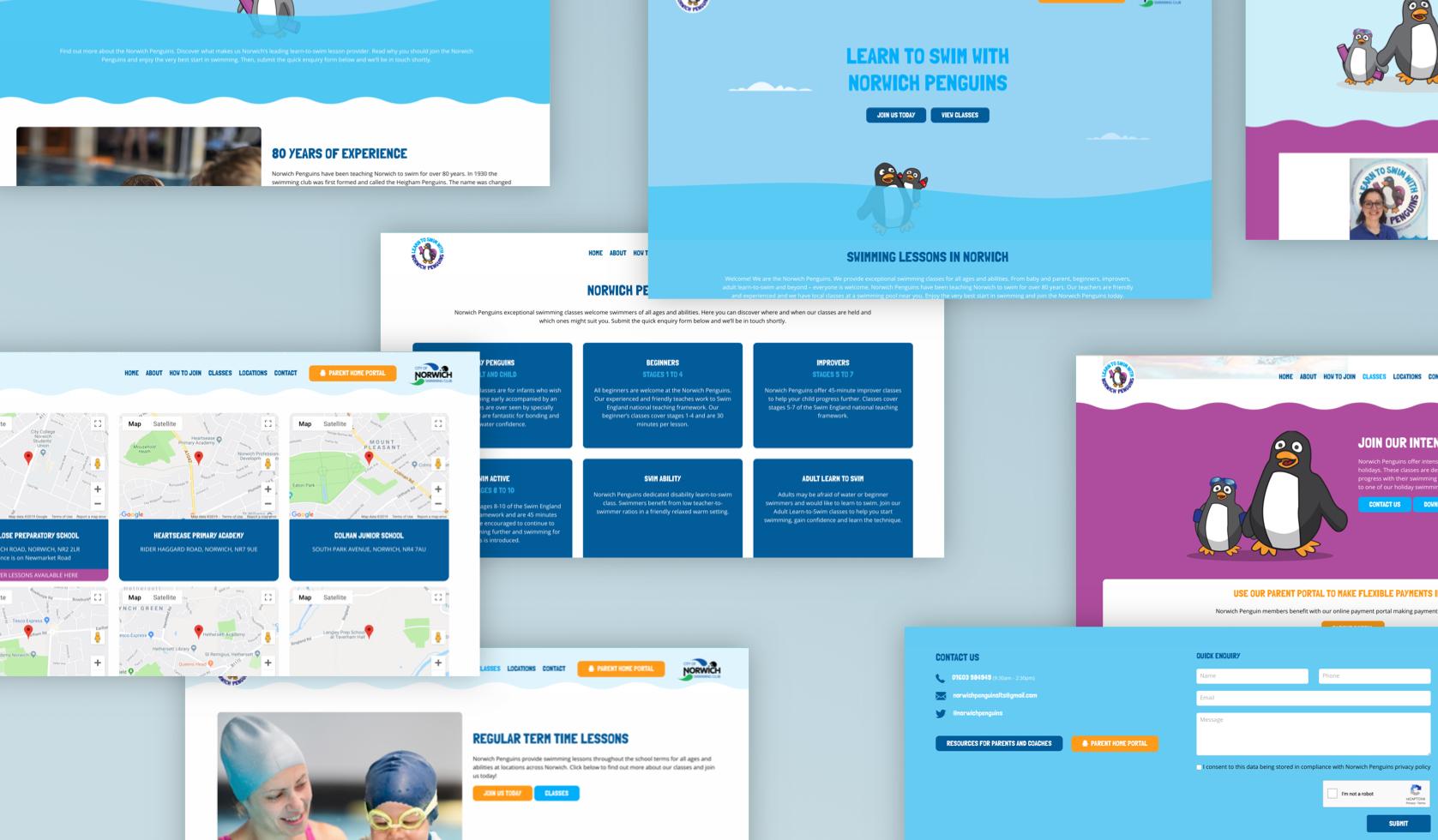 Norwich Penguins Website Design