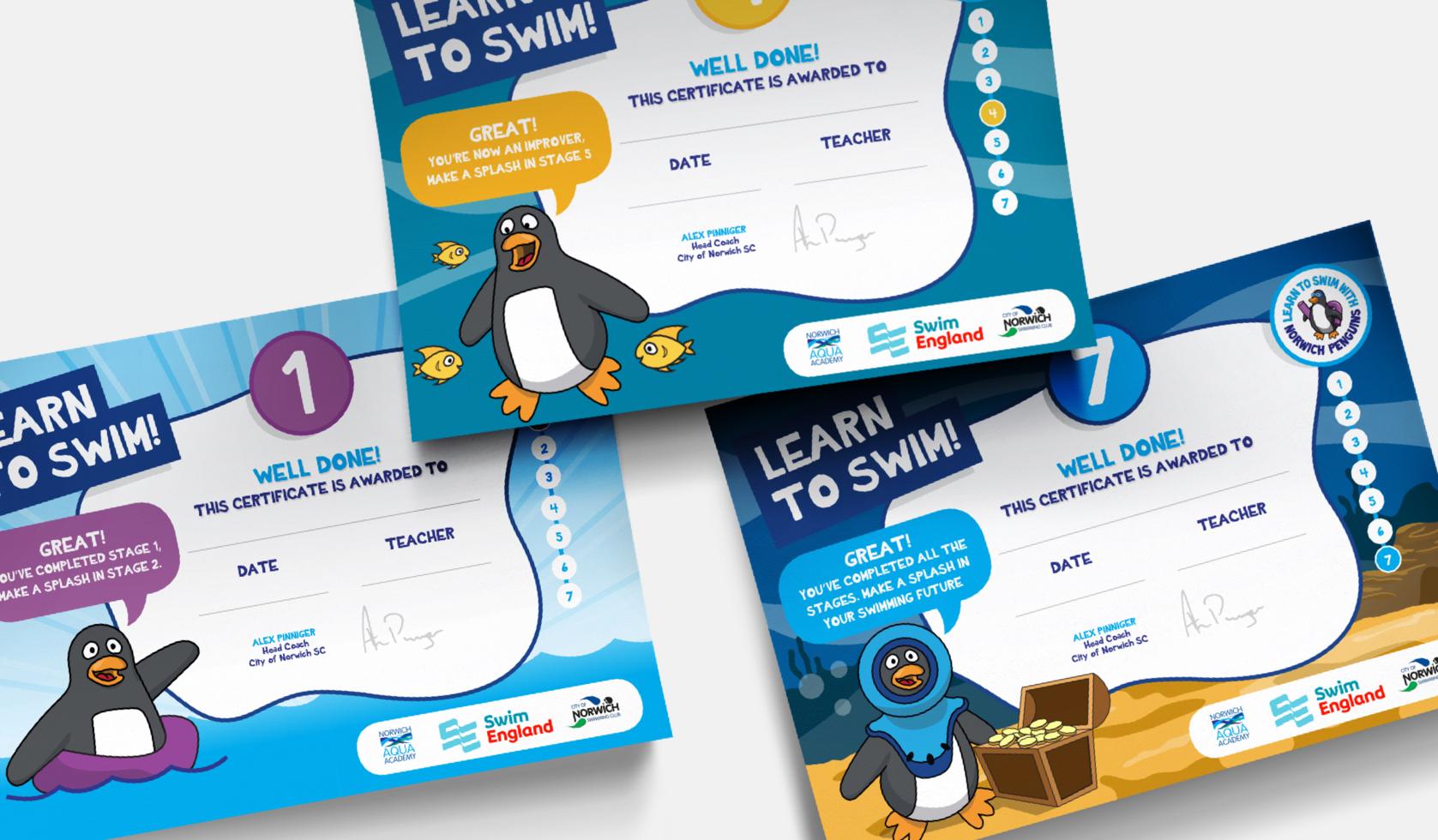 Design of Penguin Certificates