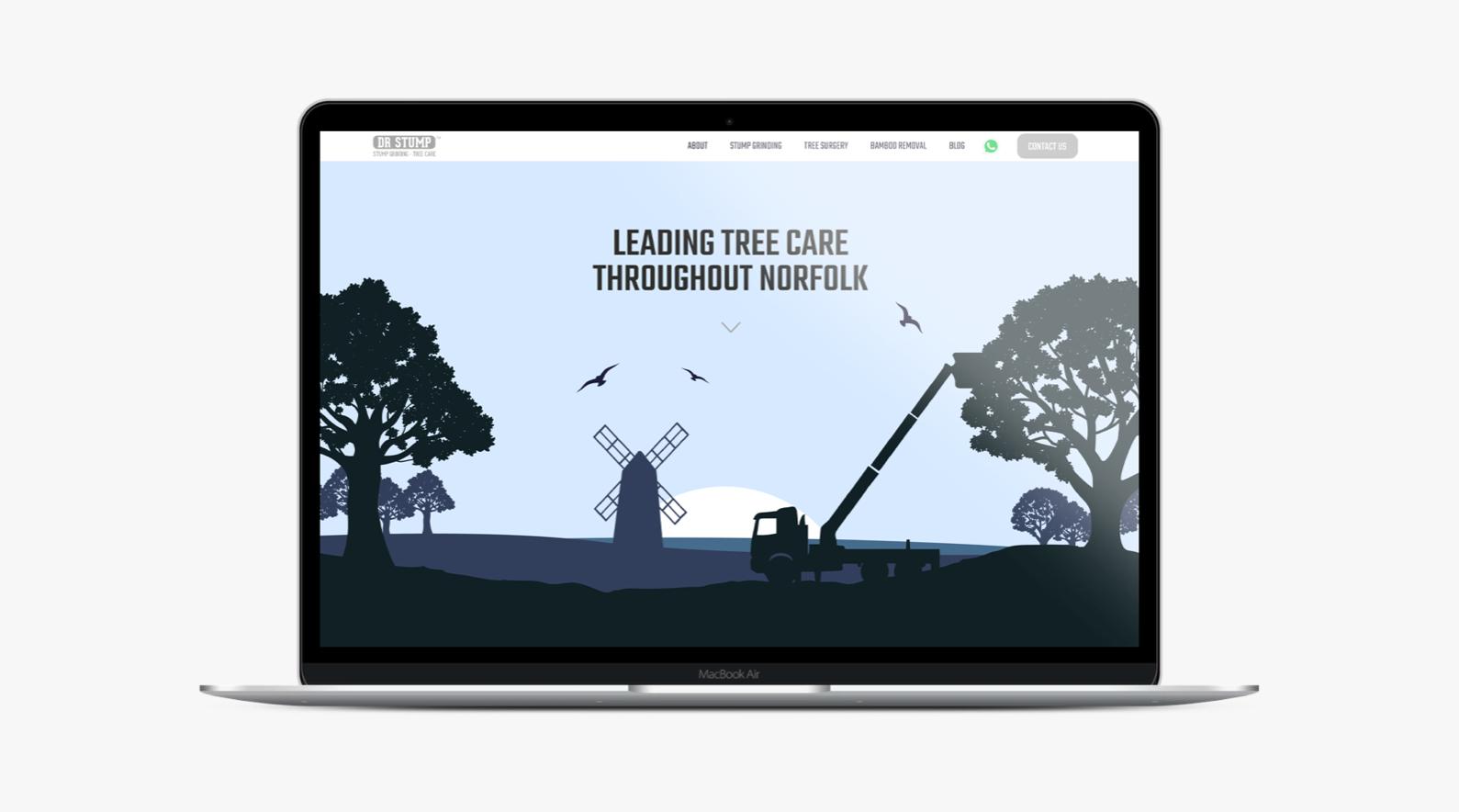 ipad visual of dr stump website