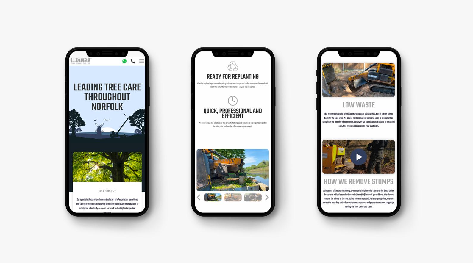 phone visual of website