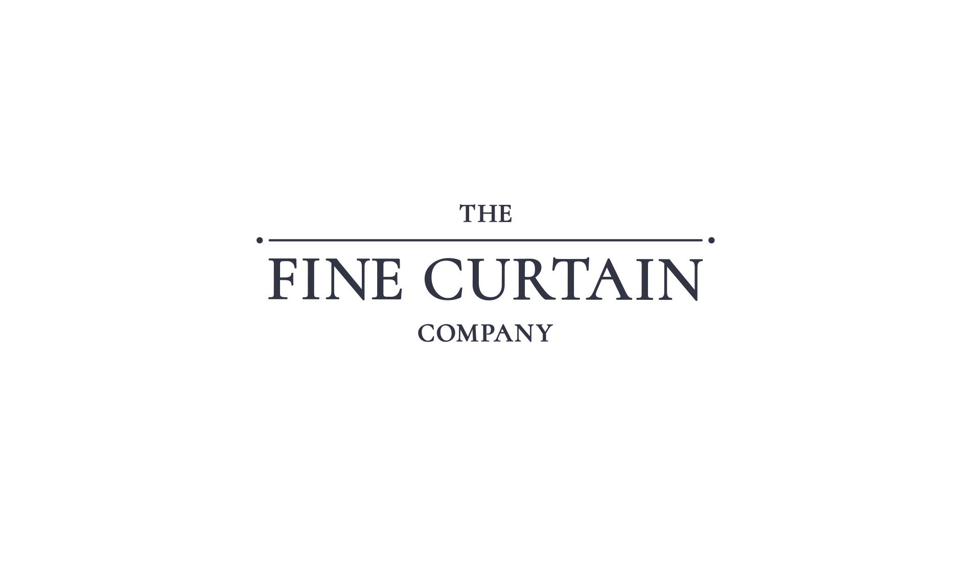 fine curtain company logo