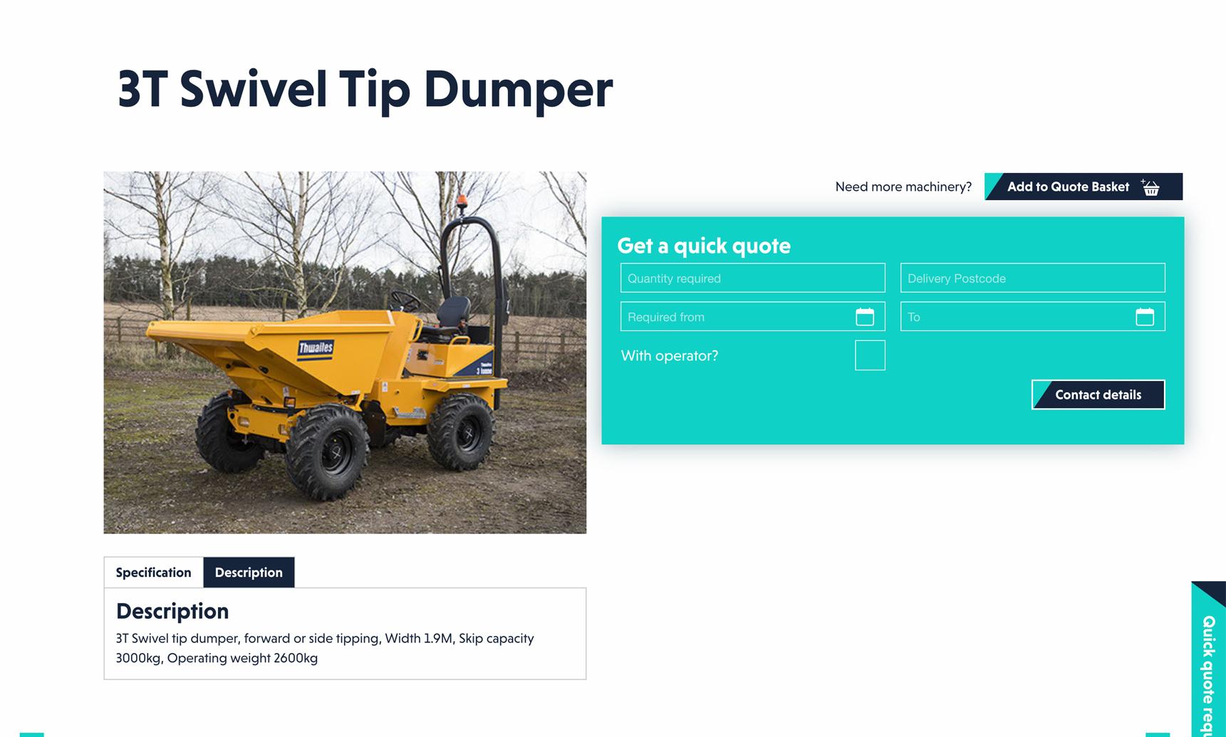 Screenshot of new website build