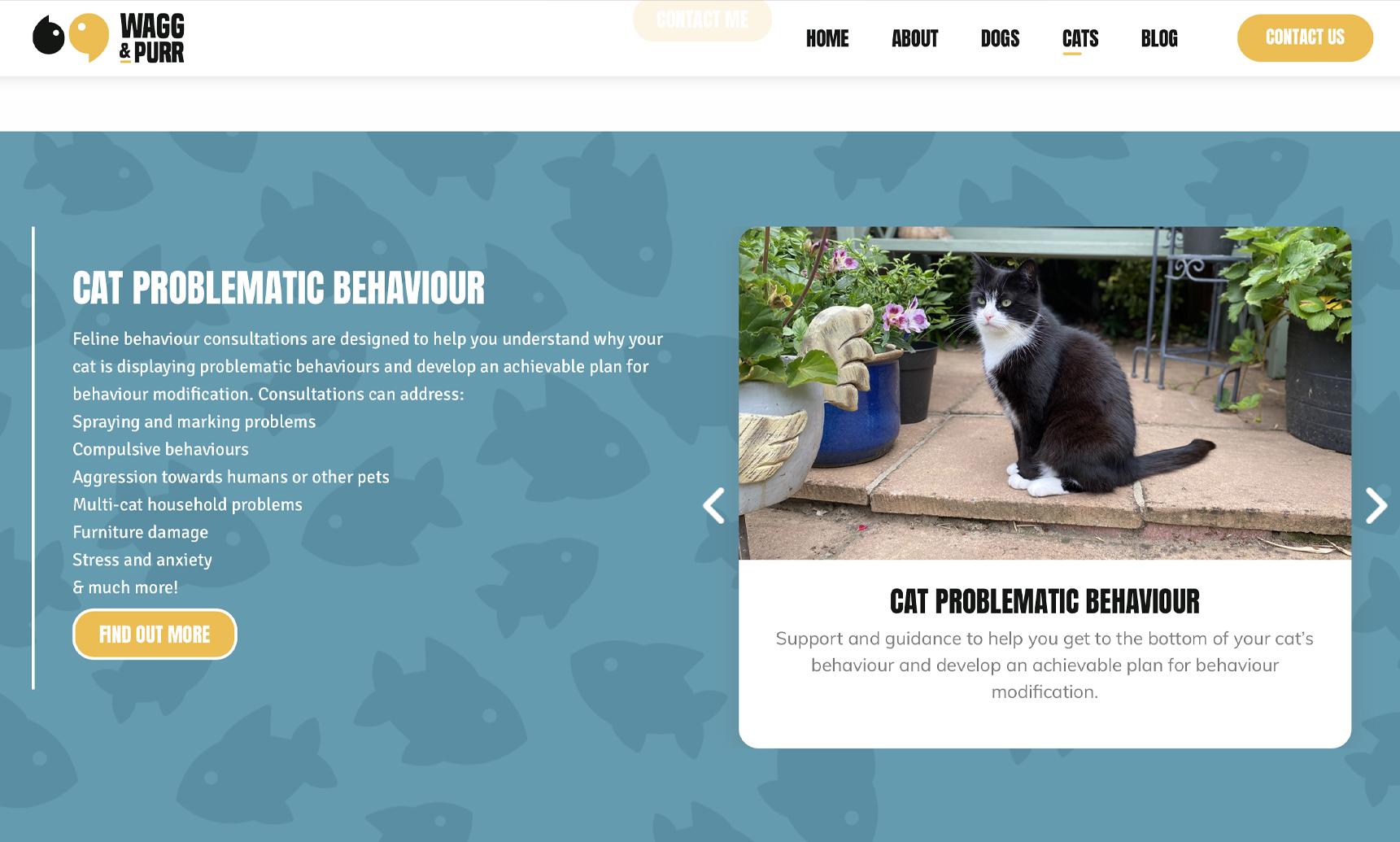 Cat page screenshot